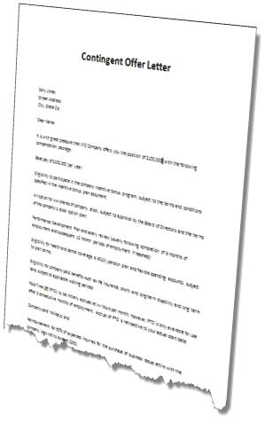 contingent offer letter