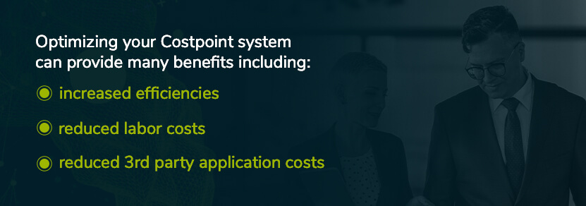 benefits of optimizing your costpoint system