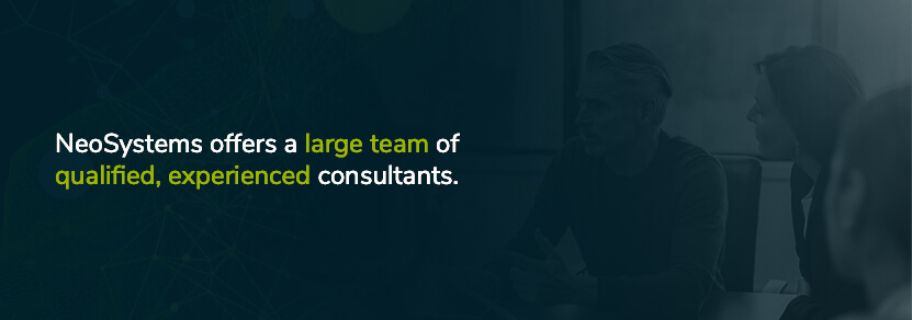 neosystems has a large team of costpoint consultants