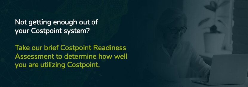 take our costpoint optimization assessment